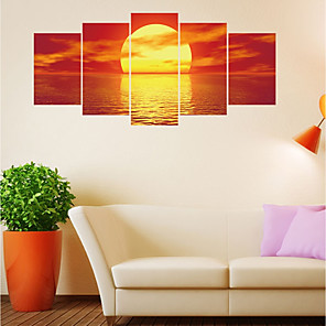 cheap Wall Stickers-Decorative Wall Stickers - Plane Wall Stickers / 3D Wall Stickers Landscape / Shapes Living Room / Bedroom