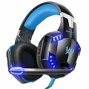 cheap Gaming Headsets-Kotion Each G2000 7.1 Surround Sound Stereo Gaming Headset Esports Headphone LED Lights & Soft Memory Earmuffs Works with Xbox One, PS4, Nintendo Switch, PC Mac Computer Gaming