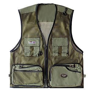 cheap Softshell, Fleece & Hiking Jackets-Men's Fishing Vest Vest / Gilet Lightweight Breathability Hunting Fishing Sports & Outdoor / Mesh