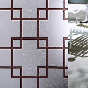 cheap Wall Stickers-Window Film & Stickers Decoration Matte / Contemporary Geometric PVC(PolyVinyl Chloride) Window Sticker / Matte