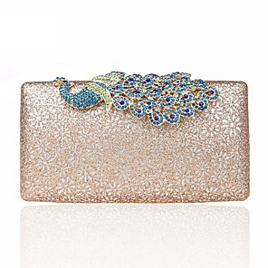 cheap Clutches & Evening Bags-Women's Buttons / Glitter Alloy Evening Bag Silver / Blushing Pink / Sky Blue / Fall & Winter
