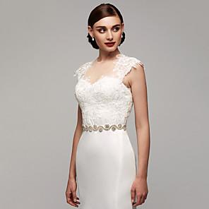 cheap Party Sashes-Satin Wedding / Party / Evening / Dailywear Sash With Rhinestone / Beading Women's Sashes