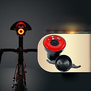 cheap Bike Lights & Reflectors-LED Bike Light Safety Light Bike Horn Light Mountain Bike MTB Bicycle Cycling Waterproof Smart Induction Invisible Lightweight Li-ion 50 lm USB Red Cycling / Bike