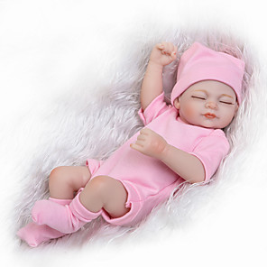 cheap Reborn Doll-10 inch Reborn Doll Reborn Toddler Doll Baby Boy Baby Girl lifelike Handmade Cute Kids / Teen Natural Skin Tone Full Body Silicone MT234 with Clothes and Accessories for Girls' Birthday and Festival
