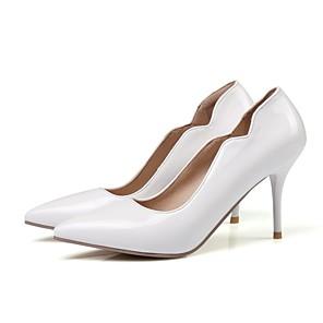 cheap Women's Heels-Women's Heels Stiletto Heel PU(Polyurethane) Basic Pump Summer Yellow / Red / Pink / Daily