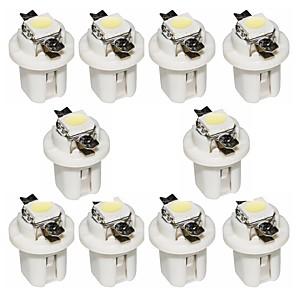 رخيصةأون صوت السيارة-otolampara 10 قطعة b8.3 5050 1smd 6000k الصمام أبيض اللون لوحة السيارة أداة ضوء لمبة الصك