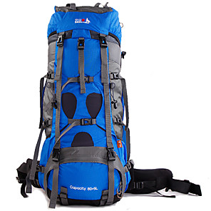cheap Backpacks & Bags-BSwolf 85 L Rucksack Breathable Rain Waterproof Wear Resistance Outdoor Hiking Cycling / Bike Camping Nylon Sky Blue Red Royal Blue