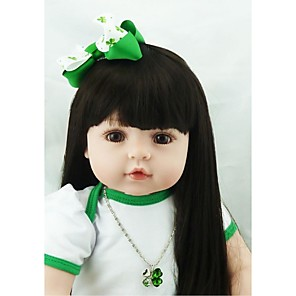 cheap Reborn Doll-NPKCOLLECTION 24 inch NPK DOLL Reborn Doll Girl Doll Baby Girl Reborn Toddler Doll Newborn lifelike Gift Hand Made Child Safe Cloth 3/4 Silicone Limbs and Cotton Filled Body with Clothes and