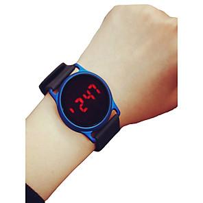 cheap Sport Watches-Men's Women's Sport Watch Wrist Watch Digital Watch Digital Silicone Black / Blue / Rose 30 m Chronograph LCD Casual Watch Digital Casual Minimalist - Black / Blue Black / Rose Red Black / Silver Two