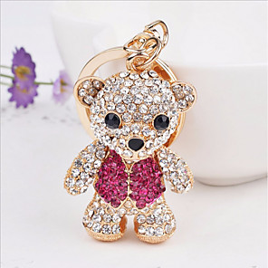 cheap Keychains-Keychain Bear Casual Cartoon Ring Jewelry Rose Gold For Holiday Going out