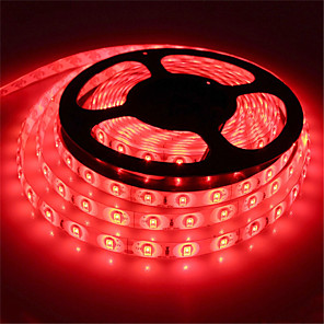 cheap Neon LED Lights-HKV® 5M LED Light Strips Flexible Tiktok Lights Desk Lamp 5630 10mm Red Blue Green NO-Waterproof 300Led Light Garden Light