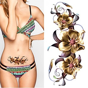 cheap Tattoo Stickers-2 pcs Temporary Tattoos Eco-friendly / New Design Body / brachium / Chest Water-Transfer Sticker Tattoo Stickers / Decal-style temporary tattoos