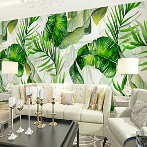 cheap Wallpaper-Wallpaper / Mural Canvas Wall Covering - Adhesive required Botanical / Pattern / 3D