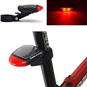 cheap Bike Lights & Reflectors-LED Bike Light Rear Bike Tail Light Safety Light Mountain Bike MTB Bicycle Cycling Waterproof New Design Solar Power 100 lm Red Cycling / Bike / ABS