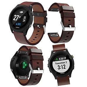 cheap Smartwatch Bands-Watch Band for Forerunner 935 Garmin Leather Loop Leather Wrist Strap