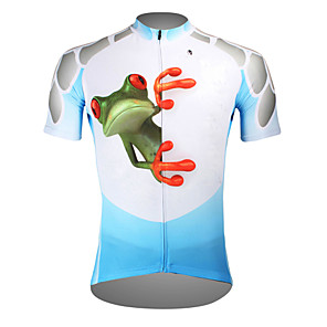 cheap Cycling Jerseys-ILPALADINO Men's Short Sleeve Cycling Jersey Polyester Purple Orange Green Frog Bike Jersey Top Mountain Bike MTB Road Bike Cycling Breathable Quick Dry Ultraviolet Resistant Sports Clothing Apparel