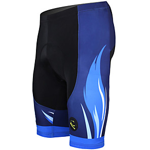 cheap Triathlon Clothing-ILPALADINO Men's Cycling Padded Shorts Bike Shorts Padded Shorts / Chamois Pants Breathable 3D Pad Quick Dry Sports Stripes Polyester Lycra Orange / Yellow / Green Road Bike Cycling Clothing Apparel