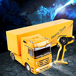 cheap Reborn Doll-RC Car 1101 6CH 2.4G Truck / Construction Truck 1:32 2 km/h Remote Control / RC / Sound / Remote-Controlled