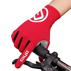 cheap Protective Gear-Winter Bike Gloves / Cycling Gloves Mountain Bike Gloves Mountain Bike MTB Road Bike Cycling Thermal / Warm Breathable Anti-Slip Sweat-wicking Full Finger Gloves Sports Gloves Lycra Silicone Gel