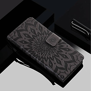 cheap Samsung Case-Case For Samsung Galaxy Galaxy S10 / Galaxy S10 Plus / Galaxy S10 E Wallet / Card Holder / with Stand Full Body Cases Flower Hard PU Leather