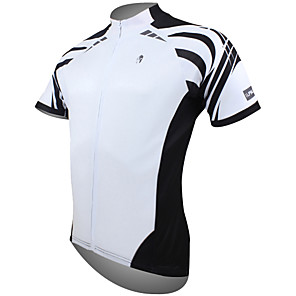cheap Cycling Jerseys-ILPALADINO Men's Short Sleeve Cycling Jersey Polyester White Yellow Red Bike Jersey Top Mountain Bike MTB Road Bike Cycling Breathable Quick Dry Ultraviolet Resistant Sports Clothing Apparel