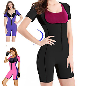 cheap Fitness Gear & Accessories-Sweat Waist Trainer Corset Sauna Suit 1 pcs Sports Neoprene Exercise & Fitness Bodybuilding Stretchy Tummy Fat Burner Calories Burned For Women Waist & Back Leg Abdomen