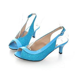 cheap Women's Sandals-Women's Sandals Plus Size Stiletto Heel Daily PU Black / Fuchsia / Blue