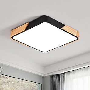 cheap Dimmable Ceiling Lights-1-Light 40 cm Dimmable Flush Mount Lights Metal Linear Painted Finishes LED / Modern 220-240V