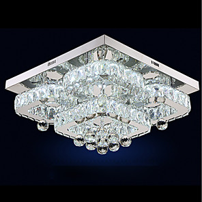 cheap Dimmable Ceiling Lights-1-Light UMEI™ 50 cm Crystal / Adjustable / Dimmable Flush Mount Lights Metal Crystal Electroplated LED / Modern 110-120V / 220-240V / FCC