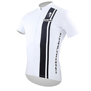cheap Cycling Jerseys-ILPALADINO Men's Short Sleeve Cycling Jersey Polyester Black / White Bike Jersey Top Mountain Bike MTB Road Bike Cycling Breathable Quick Dry Ultraviolet Resistant Sports Clothing Apparel