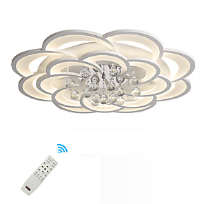 cheap Dimmable Ceiling Lights-1-Light UMEI™ 80 cm Crystal Flush Mount Lights Metal Acrylic Novelty Painted Finishes Artistic Modern 110-120V 220-240V FCC