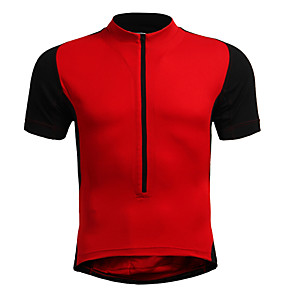 cheap Cell Phone Cables-Jaggad Men's Women's Short Sleeve Cycling Jersey Polyester Elastane Yellow Red Orange Plus Size Bike Jersey Top Mountain Bike MTB Road Bike Cycling Breathable Quick Dry Sports Clothing Apparel