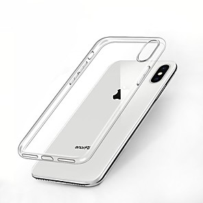 cheap iPhone Cases-Case For Apple iPhone XS / iPhone XR / iPhone XS Max Shockproof / Transparent Back Cover Solid Colored Soft TPU