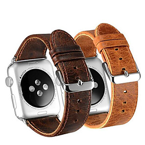 cheap Smartwatch Bands-Smart Watch Leather Band for Apple Watch Series 5/4/3/2/1 Apple iwatch Leather Loop Genuine Leather Sport Business Bands High-end Fashion comfortable Health Wrist Straps