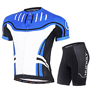 cheap Cycling Jersey & Shorts / Pants Sets-Nuckily Men's Short Sleeve Cycling Jersey with Shorts Red Green Blue Bike Clothing Suit UV Resistant Breathable Quick Dry Ultraviolet Resistant Reflective Strips Sports Polyester Coolmax® Lycra