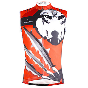 cheap Cycling Jerseys-ILPALADINO Men's Sleeveless Cycling Jersey Red / Silver Wolf Bike Vest / Gilet Jersey Tank Top Mountain Bike MTB Road Bike Cycling Quick Dry Sports Clothing Apparel / Stretchy
