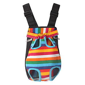 cheap Dog Travel Essentials-Dog Cat Carrier Bag & Travel Backpack Portable Casual / Daily Stripes Fabric Stripe