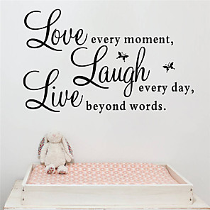 cheap Wall Stickers-Characters Wall Stickers Words & Quotes Wall Stickers Decorative Wall Stickers, PVC Home Decoration Wall Decal Wall Decoration 1pc / Washable / Removable