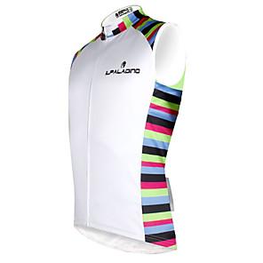 cheap Cycling Jersey & Shorts / Pants Sets-ILPALADINO Men's Sleeveless Cycling Jersey White Bike Vest / Gilet Jersey Tank Top Mountain Bike MTB Road Bike Cycling Quick Dry Sports Clothing Apparel / Stretchy