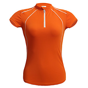 cheap Cycling Jerseys-Jaggad Women's Short Sleeve Cycling Jersey Polyester Coolmax® Red Light Green Light Red Bike Jersey Top Mountain Bike MTB Road Bike Cycling Breathable Quick Dry Sports Clothing Apparel