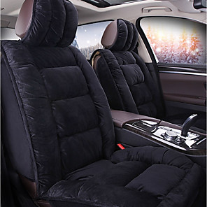cheap Car Headrests&Waist Cushions-ODEER Car Seat Covers Seat Covers Black Textile / Acetate Common For universal All years All Models