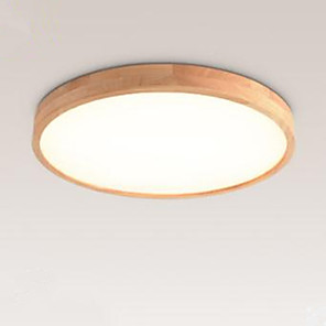 cheap Dimmable Ceiling Lights-1-Light 30 cm Flush Mount Lights Wood Bamboo Wood Bamboo Circle Wood Contemporary LED 220-240V