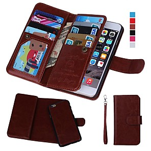 cheap iPad case-Case For Apple iPhone XS / iPhone XR / iPhone XS Max Wallet / Card Holder / Shockproof Full Body Cases Solid Colored Hard PU Leather