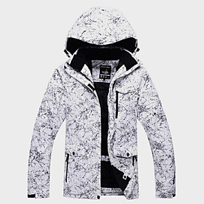 cheap Historical & Vintage Costumes-ARCTIC QUEEN Men's Women's Ski Jacket Ski / Snowboard Winter Sports Outdoor Thermal / Warm Waterproof Windproof Winter Jacket Ski Wear / Long Sleeve / Floral Botanical