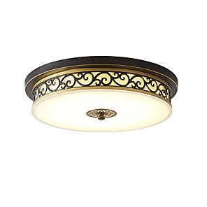 cheap Flush Mounts & Semi Flush Mounts-1-Light 30 cm Eye Protection / Dimmable Flush Mount Lights Metal Circle LED / Retro 220-240V
