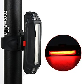 cheap Bike Lights & Reflectors-LED Bike Light Rear Bike Tail Light Safety Light Mountain Bike MTB Bicycle Cycling Waterproof Adjustable Anti-Shock Night Vision Lithium Battery 10 lm Red mi.xim