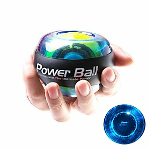 "cheap Electrical & Tools-Powerball Spinner Gyroscopic Strengthener 3"" (7.5 cm) Diameter Rubber LED Essential Stress Relief Hand Therapy Wrist Trainer Exercise & Fitness Gym Workout Workout For Wrist Hand Forearm Home Office"