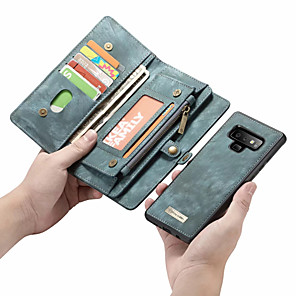 cheap Samsung Case-CaseMe Case For Samsung Galaxy Note 9 / Note 8 Wallet / Card Holder / Flip Full Body Cases Solid Colored Hard PU Leather for Note 9 / Note 8