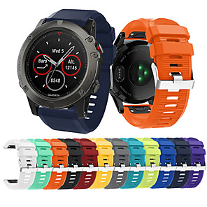 cheap Smartwatch Bands-Watch Band for Fenix 5x Plus / Fenix 3 HR / Fenix 3 Garmin Sport Band Silicone Wrist Strap