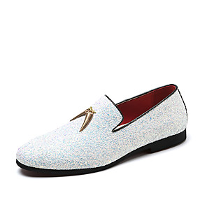 cheap Men's Slip-ons & Loafers-Men's Formal Shoes Comfort Shoes Fall & Winter Casual / Chinoiserie Party & Evening Office & Career Loafers & Slip-Ons Faux Leather Waterproof Non-slipping Wear Proof White / Blue / Tassel / Tassel